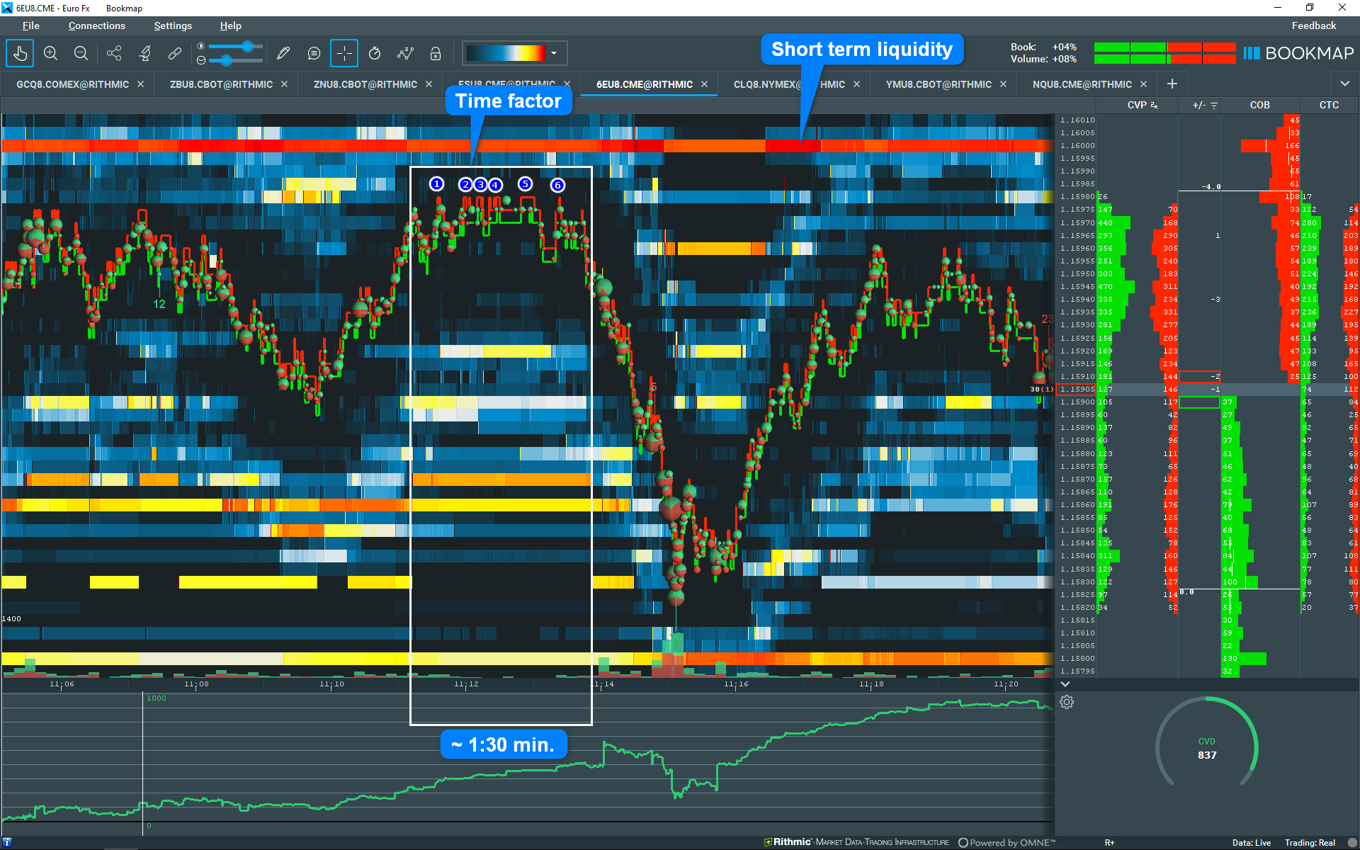 Spot Pull Backs with Exhaustion in Bookmap™ - Trading To Win